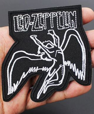 1 X Led Zeppelin Songs MusicSymbols Iron on Patch FREE SHIPPING