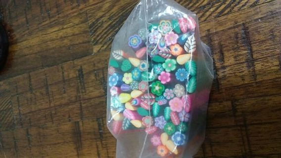 Nail Art Polymer Clay Flowers & Leaves Winner Gets All