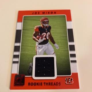 2017 Donruss Joe Mixon Red Parallel Rookie Threads Jersey Card