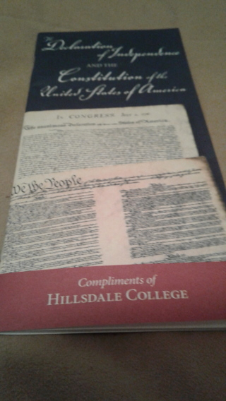 USA Constitution and Declaration of Independence Booklet From Hillsdale College