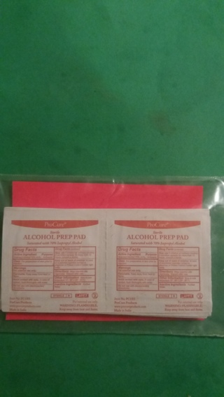 20 pro cure alcohol prep pads free shipping