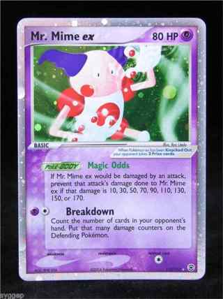 1 Mr. Mime ex Card (1) Pokemon Card - 110/112 - Ultra-Rare Ex Fire Red & Leaf Green Singles