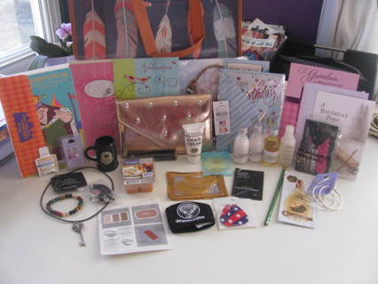 Tiered auction New Avon, Aveda, Chanel, Jewelery, purse, Barware,