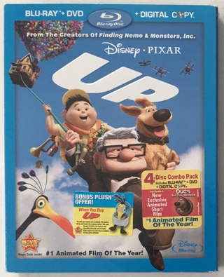 Disney Pixar UP 4-Disc Blu-Ray / DVD Combo Pack Movie With Mint Discs!