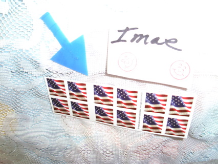 "I BOOK of 20 FOREVER STAMPS`"" THE AMERICAN FLAG""  style"