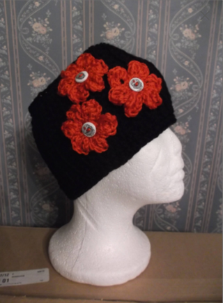 DAY OF THE DEAD SUGAR SKULL Crocheted / Knitted Ear Warmers / Headband