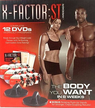 NEW Weider X Factor ST Complete 12 DVDs Workout Program FREE SHIPPING