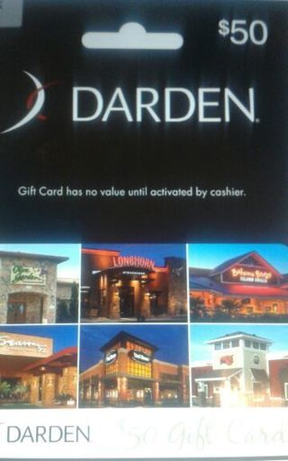Free 50 Darden Gift Card Gift Cards Auctions For Free Stuff