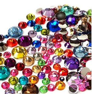 200 pcs 2mm - 6mm Resin round Rhinestones Flatback Mix SIZE & COLOR ~ M1-14