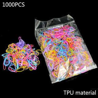 1000pcs TPU Band Hair Accessories for Women Children Rubber Elastics Hair Bands