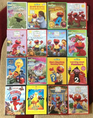 Free Huge Lot Of Sesame Street And Elmo S World Dvds Dvd