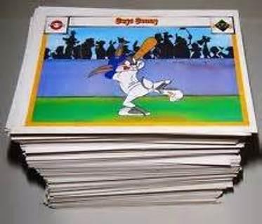 1990 Upper Deck Baseball Looney Tunes LOT of 8 Random Cards