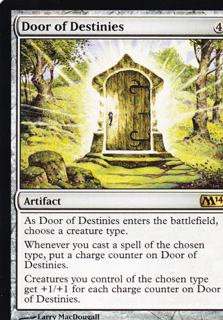 Free mtg door of destinies rare artifact m14 core set for Door of destinies