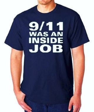 9/11 WAS AN INSIDE JOB T-Shirt Navy Blue (Size Options) FREE SHIPPING