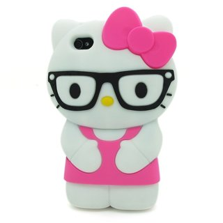 Pink iPhone 4/4S  3D Hello Kitty Soft Silicone Case Protective Cover Skin for Apple iPhone 4 4S 4G