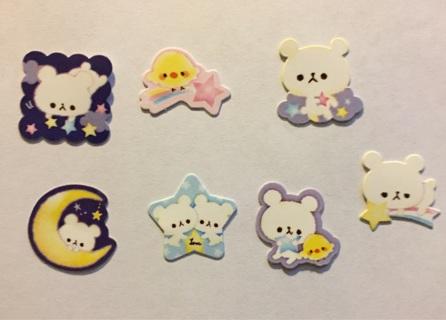 kawaii sticker flake set