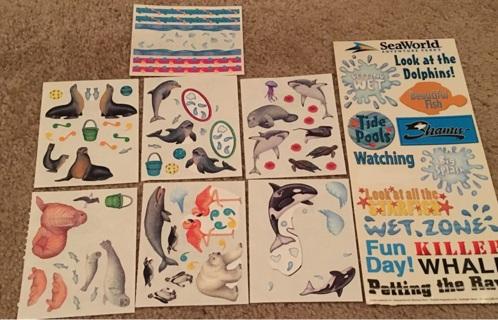 SeaWorld/Sealife stickers