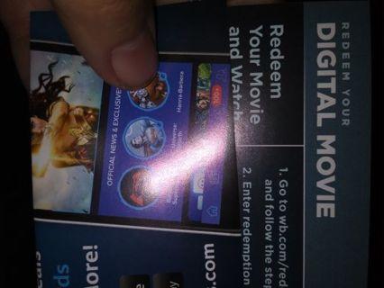 Wonder woman digital movie code