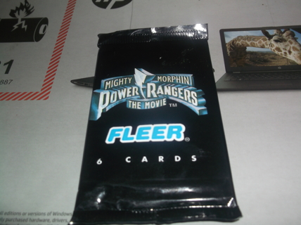 1995  fleer  Mighty Morphin Power Rangers The Movie   Unopened Trading Cards
