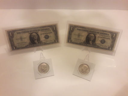 Free: (Two) 1935-E $1 Silver Certificate with Sequential Serial ...