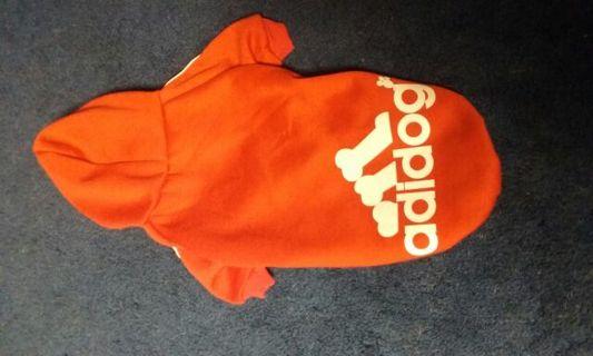 Super cute red Adidog hoodie