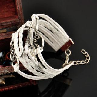 Handmade Silver Plated Infinity Friendship Leather Bracele