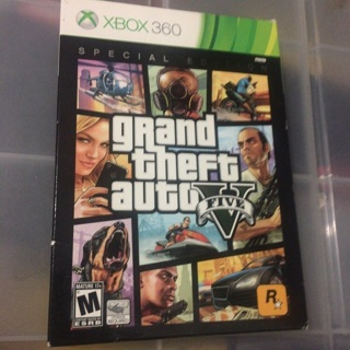 Grand Theft Auto V Five Xbox 360 Special Edition SteelCase Blueprint