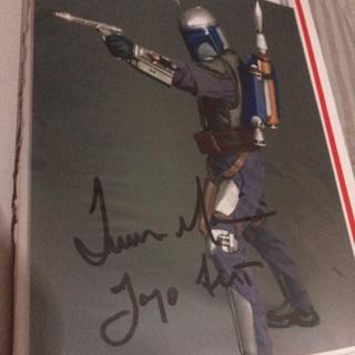 Jango Fett autograph original 8x10 Star Wars