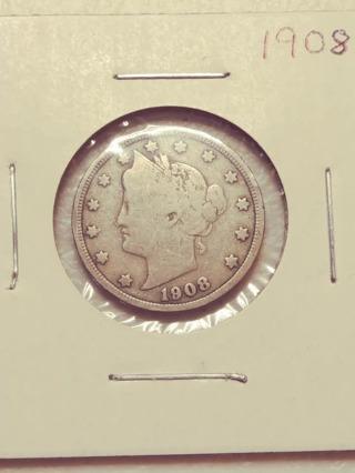 1908 Liberty V Nickel! Nice Date! 83