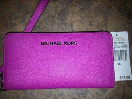 Free: Authentic w tags michael kors jet set travel wallet