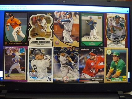 (10) Baseball Cards Stars, HOFers, Serial #'d or Inserts - LOT 18 - Read Details