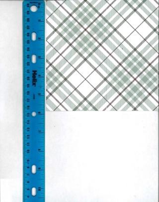 Green Plaid Scrapbook Paper
