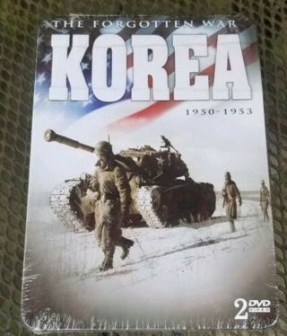 ✹ The Forgotten War Korea 1950-1953 (DVD) (2DISCS TIN BOX) -NEW -Free Ship