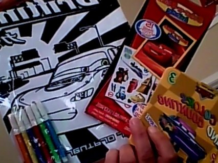 """""""FREE SHIPPING"""" CARS poster, sticker, and a book"""