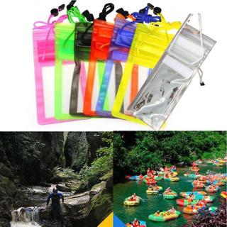 PVC Transparent Outdoor Swimming Waterproof Bag Case Cover For 5.5 inch Phone
