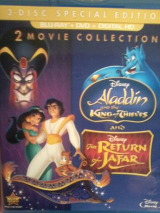 Free: Aladdin 2 and Aladdin 3 digital hd movie codes PLUS