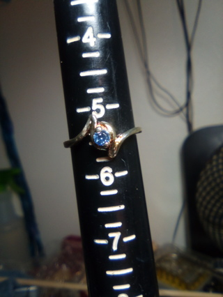 Ring with blue Stone size 5 1/2
