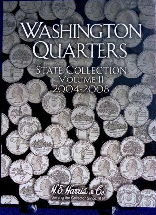 Harris Washington State Quarters Collection Vol #2 2004-2008 Coin Folder Book