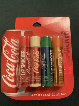 Coca-Cola flavored lip balms