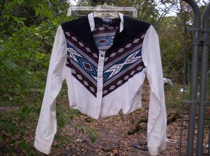 QSale Brooks & Dunn Western Short Shirt Size L
