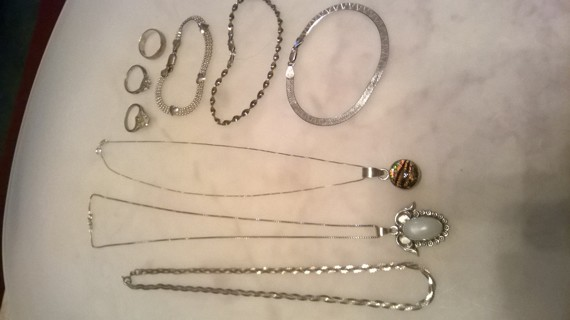 Sterling Silver Necklaces, Rings, Bracelets
