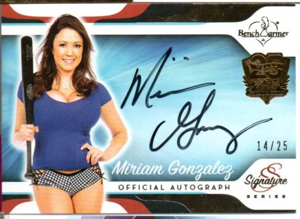 2017 Benchwarmer Miriam Gonzalez Autograph 14/25