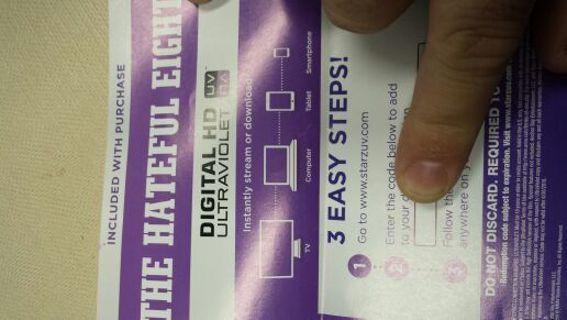 The Hateful Eight HD UV code