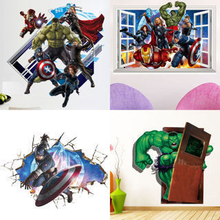 Free 3d Avengers Marvel Widow Vinyl Kids Wall Sticker Mural Decal