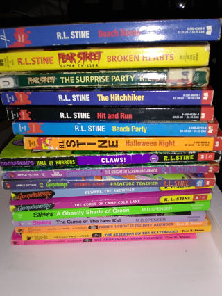 R.L. Stine and other scary kids books