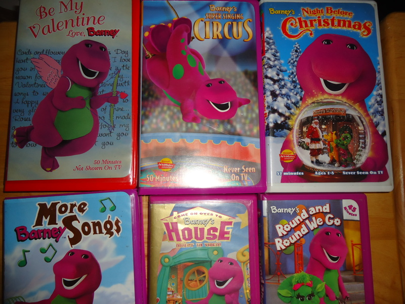 Free: Barney vhs lot kid baby sing a song Christmas Circus Valentine ...