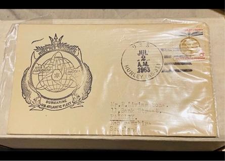 1963 U.S.S Hunley Naval Fleer Letter
