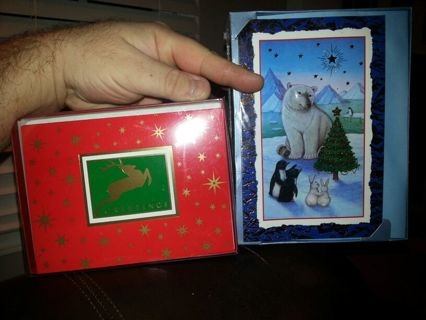 (Lot of 2) CHRISTMAS CARDS