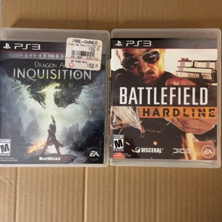 PS3 games Dragon Age Inquisition and Battlefield Hardline