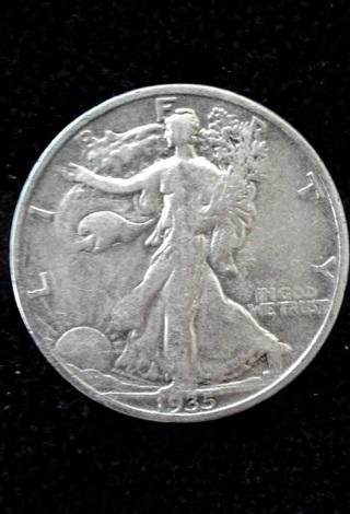 1935-S WALKING LIBERTY HALF DOLLAR - 90% SILVER -